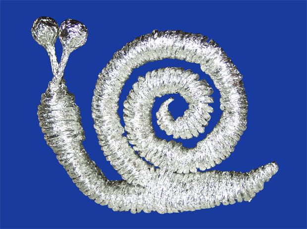 Процесс плетения из фольги