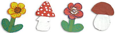 Раскрашенные декоративные элементы для маскировки прищепок