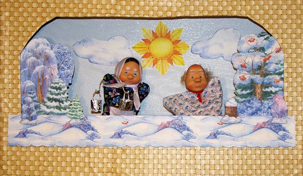 Мастер-класс: Декорации. Кулисы на ширме с куклами. Деревья зимние