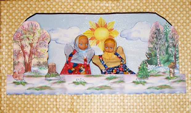 Мастер-класс: Декорации. Кулисы на ширме с куклами. Деревья весенние