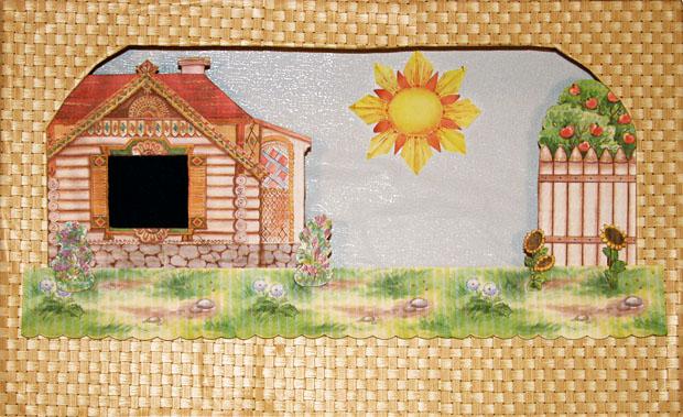 Мастер-класс: Готовая сцена с богатым домом. Художник: Елена Давыдова