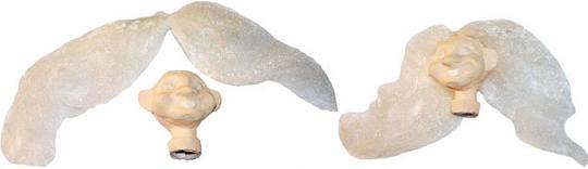 Закрепление волос на голове куклы-перчатки