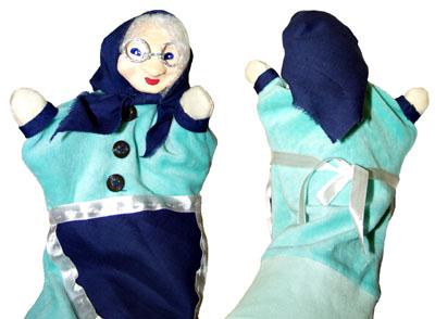 Кукла-перчатка Бабка. Проработка деталей костюма