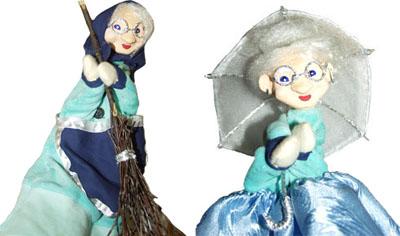 Кукла-перчатка Бабка в роли Старушки и в роли Фрейлины