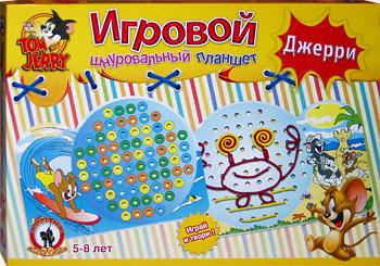 Настольные игры Олеси Емельяновой. Игровой шнуровальный планшет: Джерри. Игра для детей от 5 лет.