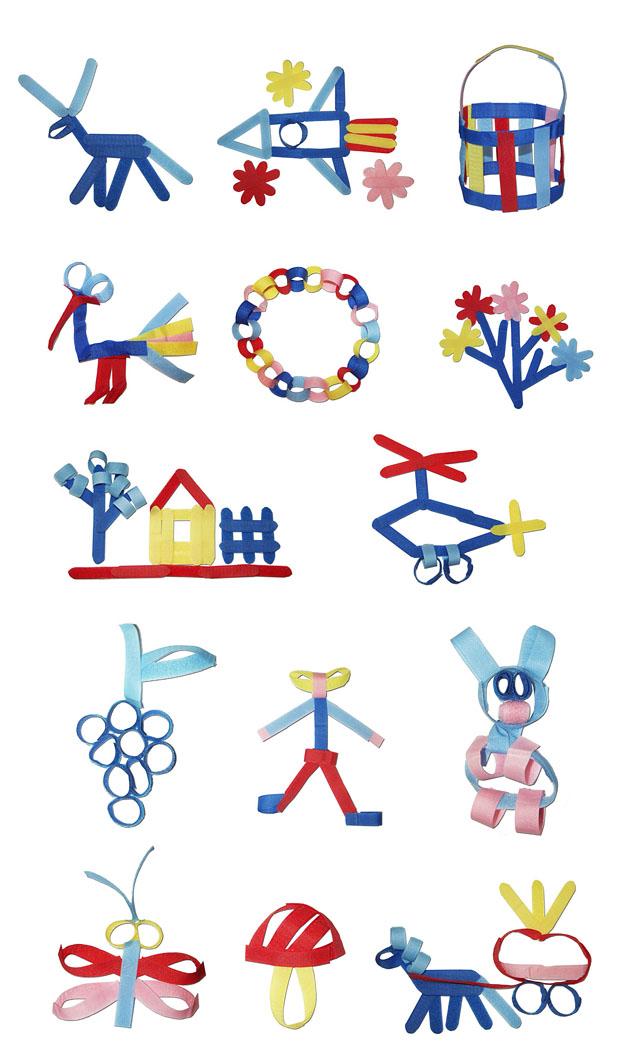 Развивающий конструктор для малышей своими руками! Что можно сделать из Велькрошки. Примеры изделий.