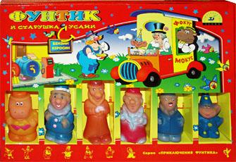 Настольные игры Олеси Емельяновой. Каталог. Игры с фишками игрушками: Фунтик и старушка с усами. Детская настольная игра для детей от 5 до 8 лет.