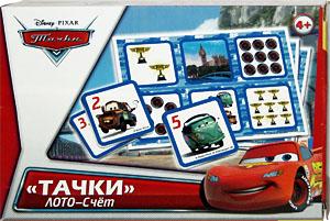 Настольная игра Олеси Емельяновой. Лото-счет «Тачки». Игра для детей от 4 до 7 лет.