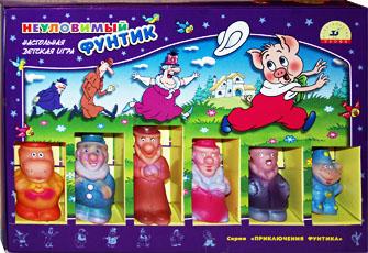 Настольные игры Олеси Емельяновой. Каталог. Игры с фишками игрушками: Неуловимый Фунтик. Детская настольная игра для детей от 5 до 8 лет.