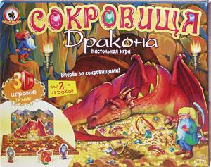 Настольная игра Олеси Емельяновой: Сокровища дракона. Игра для детей от 5 до 12 лет с полем-панорамой