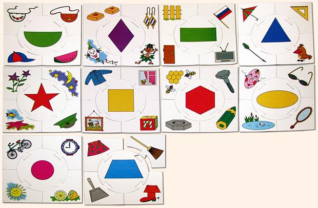Лото с геометрическими фигурами 105