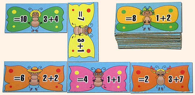 Сложение. Серия Умное домино. Игра для детей от 5 лет. Материалы игры.