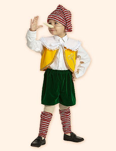 Стихи-визитки для карнавального костюма Буратино