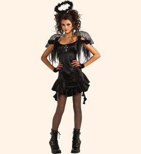 Черный Ангел и Ангел Тьмы. Стихи-визитки Олеси Емельяновой для защиты карнавальных костюмов на Хэллоуин.