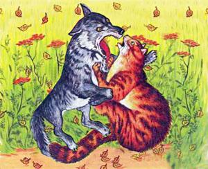 Крылов.басня волк и кот
