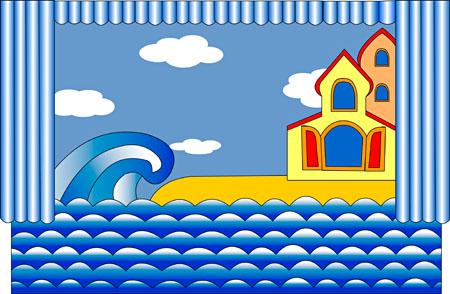 картинки декорации к сказке золотая рыбка