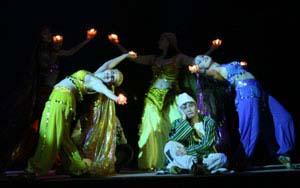 Волшебная лампа Аладдина. Сцена из спектакля.
