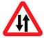 Стихи о дорожных знаках. Дорожный знак. Двустороннее движение.