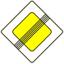 Стихи о дорожных знаках. Дорожный знак. Конец главной дороги.