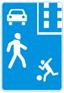 Стихи о дорожных знаках. Дорожный знак. Жилая зона.